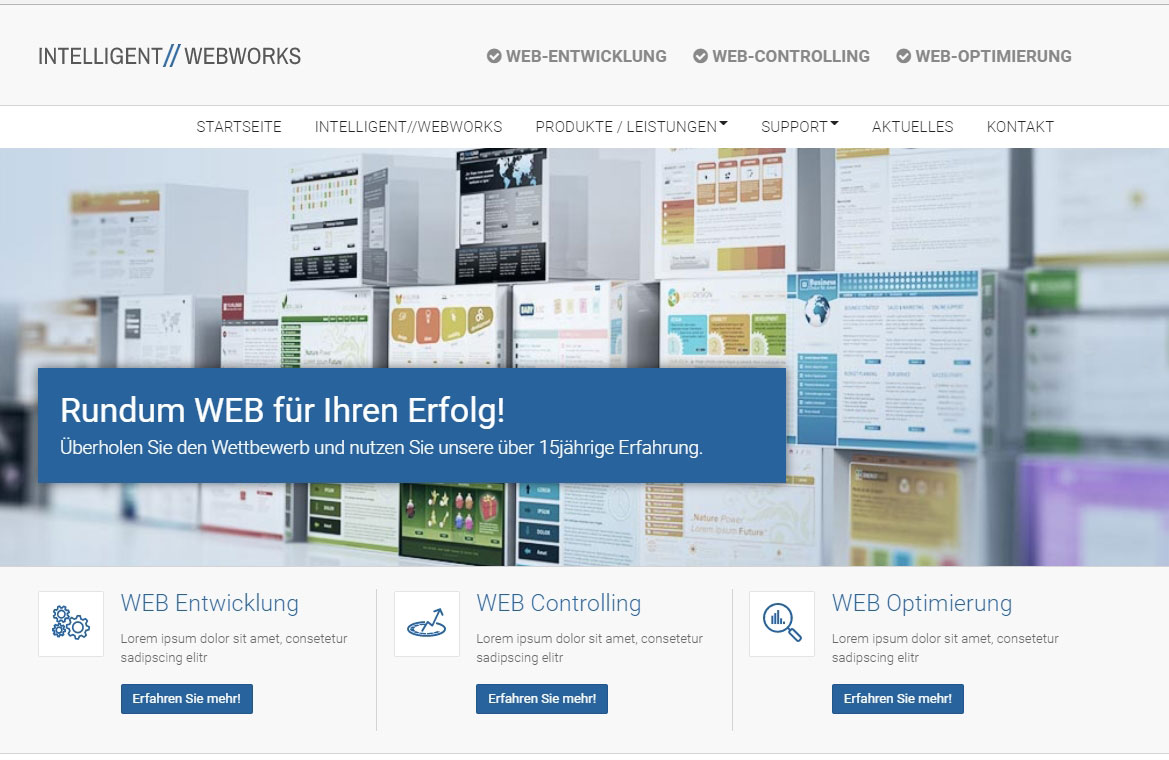 Web-Relaunch Internetagentur INTELLIGENT//WEBWORKS